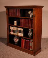 Open Bookcase in Light Oak 19th Century - England (4 of 11)