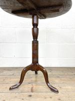 Antique Oak Tripod Table (4 of 6)