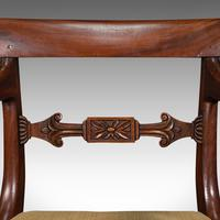 Antique Elbow Chair, English, Mahogany, Carver, Drop-in Seat, Regency c.1820 (10 of 12)