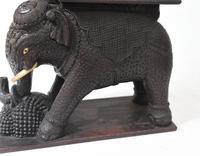 Carved Burmese Elephant Statue Antique Burma c.1890 (5 of 8)