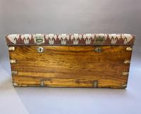 19th Century Campaign Camphor Chest Seat (5 of 13)