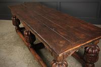 Large 18th Century Carved Oak Dining Table (13 of 21)