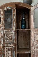 Unique Tall Two Door Teak & Painted Cabinet (16 of 16)