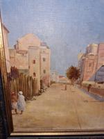 Impressive French Orientalist Painting Oil on Canvas 'attr. Albert Rigolot' (7 of 12)