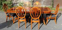 1960's Mahogany Pull Out Table with Set of 6 Dining Chairs.4+2 Carvers (2 of 14)