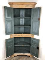 Antique Pine Free Standing Corner Cupboard (8 of 10)