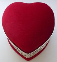 Large 1902 Hallmarked Silver Love Heart Ring Earring Jewellery Box (5 of 10)
