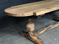 19th Century Rustic Oak Farmhouse Dining Table (19 of 23)