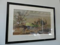 Pair Watercolours Coaching Scene (3 of 9)
