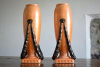 Large Pair of Secessionist Period Vases (6 of 10)