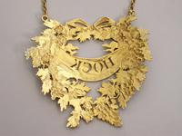 George III Silver Gilt Wreath Wine Label 'HOCK' by Digby Scott & Benjamin Smith - London 1806 (11 of 11)