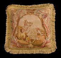 Cushion: 18th Century, Wool. A Reclining Figure