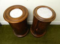 Pair of Mahogany Cylinder Bedside Cabinets (2 of 7)