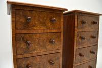Pair of Antique Victorian Burr Walnut Bedside Chests (3 of 10)