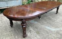 Impressive Victorian Mahogany Extending Dining Table - Seats 12 (17 of 23)