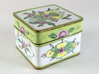 Antique Canton Painted Enamel Lidded Box (5 of 6)