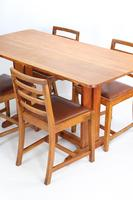 Oak Refectory Dining Table & 4 Chairs Manner of Heals (13 of 13)