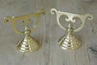 Quality Pair Victorian Aesthetic Movement Brass Fire-dogs Fire Iron Rest Andirons c.1880