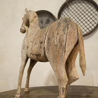 Large 19th Century Carved Indian Horse - Original Paint (4 of 14)