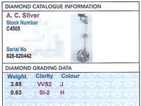 4.48 ct Diamond and Platinum Necklace - Antique Circa 1920 (7 of 9)