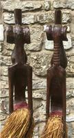 Very Large Pair of Senufo Hand Carved Wooden Figures. Ivory Coast West Africa (6 of 7)