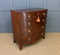 Regency Mahogany Bow Fronted Chest of Drawers (3 of 14)