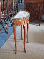 Small french Demi Lune Marble Top table (2 of 4)