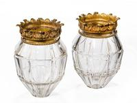 Pair of Early 20th Century Vase Lanterns with Bevelled Edges (2 of 3)