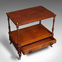Antique Two Tier Side Table, Mahogany Whatnot, Regency Canterbury, Display Stand (8 of 12)