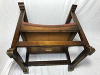 Fine Vintage Early 20th Century Original Adolf Loos Vienna Fireside Leather Armchair Secessionist Oak (32 of 46)