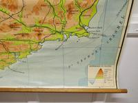 """Large University Chart """"Physical Map of Ireland"""" by Bacon (4 of 4)"""