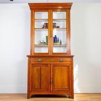 Handsome Victorian Walnut Glazed Bookcase C1890 (12 of 12)