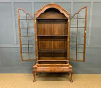 Burr Walnut Dome Topped Display Cabinet (8 of 21)