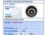 0.41ct Diamond, Pearl & Black Onyx, 18ct Yellow Gold Brooch c.1890 (8 of 9)