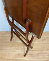 Antique Mahogany Folding Games Coaching Table (4 of 10)