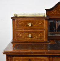 Edwardian Mahogany & Marquetry Writing Table by Jas Shoolbred (11 of 18)