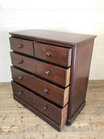 Victorian Mahogany Straight Front Chest of Drawers (9 of 16)