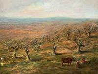 Large Superb Original 19thc West Sussex 'Tilgate Forest' Landscape Oil Painting (8 of 12)
