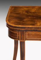 George III Period Mahogany D Form Card Table (4 of 4)