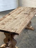 French Bleached Refectory Farmhouse Dining Table (11 of 21)