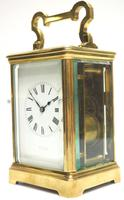 Good Antique French 8-day Repeat Carriage Clock Bevelled Case with Enamel Dial Gong Striking (4 of 15)