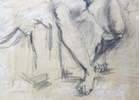 Original pencil drawing 'Seated nude' by Felix Topolski 'attributed' 1907-1989 (3 of 4)