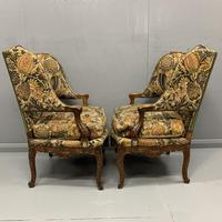 Pair of French Wing Armchairs (8 of 9)