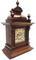 German Carved-Oak 8-Day Mantel Clock by Junghans (3 of 13)