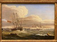 Beautifully Painted George III Period Oil Painting on Panel of a Marine Scene (2 of 5)