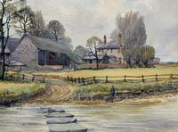 Caught One by R.Coleman 1971 A Trout Fishing Riverscape Watercolour Painting (3 of 13)