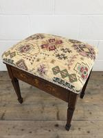 Antique Victorian Rosewood Piano Stool (14 of 14)
