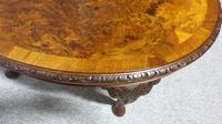Burr Walnut Oval Coffee Table (6 of 6)