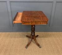 19th Century Flame Mahogany Lamp Table (7 of 10)