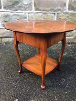 Antique Walnut Ladies Sewing Table (5 of 6)